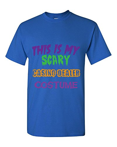 This is My Scary Casino Dealer Halloween Costume - Adult Shirt L Royal