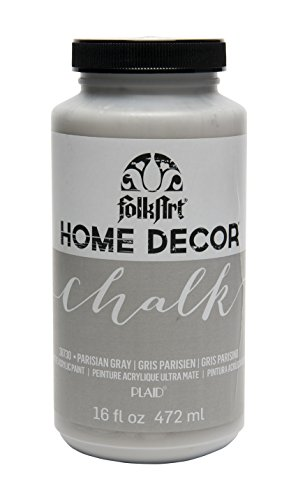 FolkArt 38730 Chalk Finish Paint, 16 ounce, Parisian Grey ()