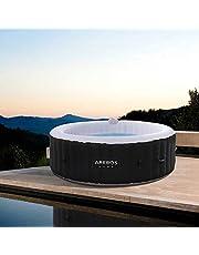 Arebos Opblaasbare whirlpool voor binnen en buiten | rond | 1000 liter | massage | verwarming | wellness