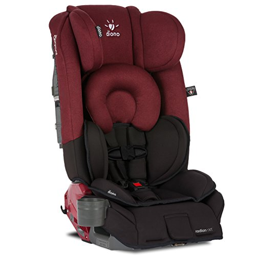Diono Radian RXT All-In-One Convertible Car Seat, Black Scarlet