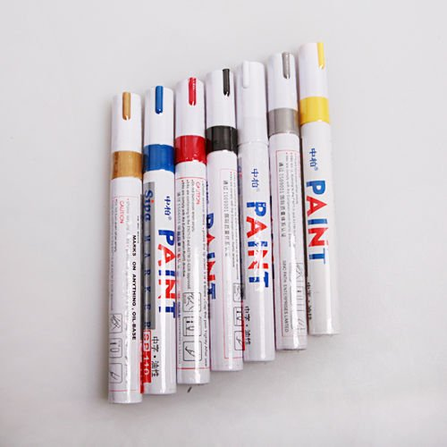 Opaque Puffy Ink Pens - 6