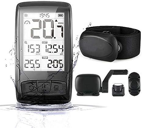 Wxxdlooa Odómetro inalámbrica Bluetooth4.0 Montaje de la Bicicleta de Bicicletas Ordenador Titular del velocímetro Velocidad/cadencia Sensor de Ciclo Impermeable Bici de la computadora: Amazon.es: Deportes y aire libre