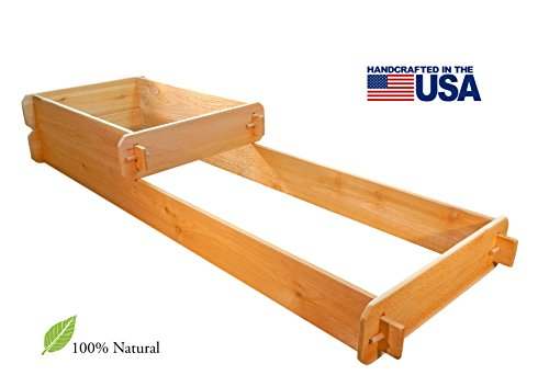 Timberlane Gardens Raised Bed Kit 2 Tiered (2x3 2x6) Western Red Cedar with Mortise and Tenon Joinery 2 Feet x 6 Feet by Timberlane Gardens