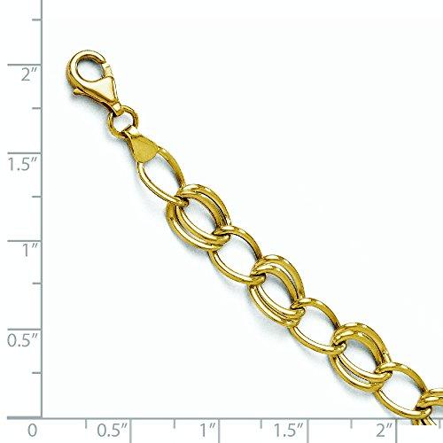 """10 k jaune or plat Bracelet Gourmette 7 """"Haute qualité-Or Or 9 Carats JewelryWeb que"""