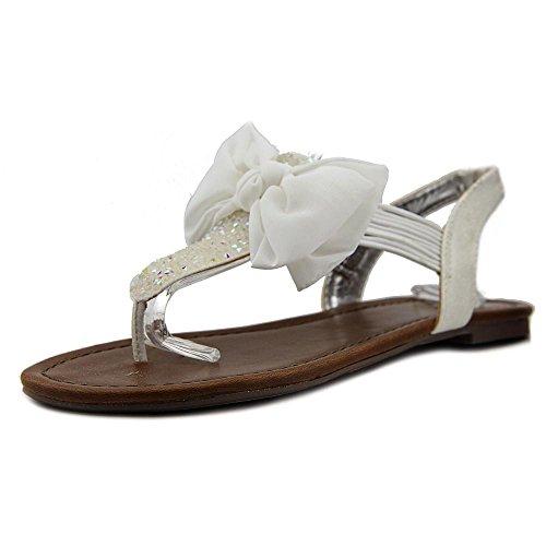 T Fille Orteils Matériau Sandales Tissu Occasionnel strap Cygne Femmes Fendu Blanc Des De De 1U1vq