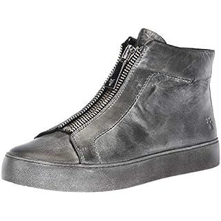 Frye Women's Lena Zip HIGH Sneaker, Black/Multi, 9 M US