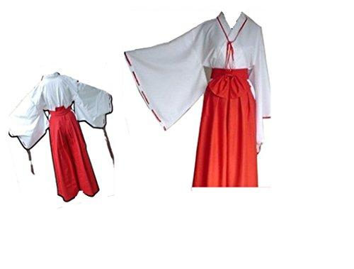 Inuyasha cosplay costume Kikyo cosplay costume Any Size (Inuyasha Kikyo Cosplay Costume)