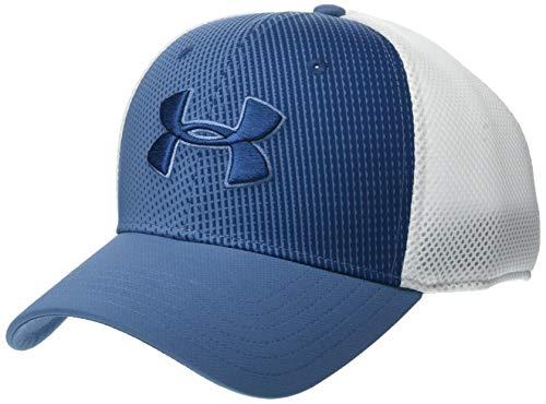 Under Armour Men's Microthread Golf Mesh Cap, Thunder//Petrol Blue, Medium/Large