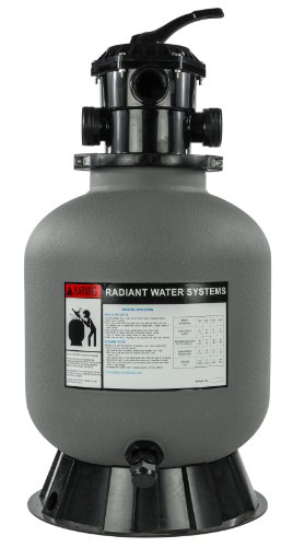 Rx Clear Radiant 16 Inch Above Ground Swimming Pool Sand Filter w/6-Way Valve