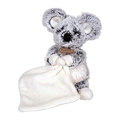 Babynat - Peluches et Doudous - Les Flocons - Doudou Pantin Souris brun noire chiné blanc - Mouchoir - Peluche bébé 18 cm