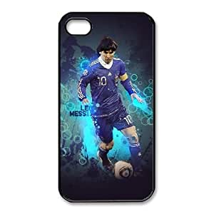 Lionel Messi_004 iphone 4 4s Cell Phone Case Black Protective Cover