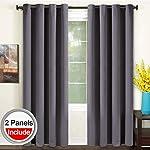 TEKAMON Blackout Curtains Thermal Insulated Grommet Window Draperies Room Darkening Panels Living Room, Bedroom, Nursery by