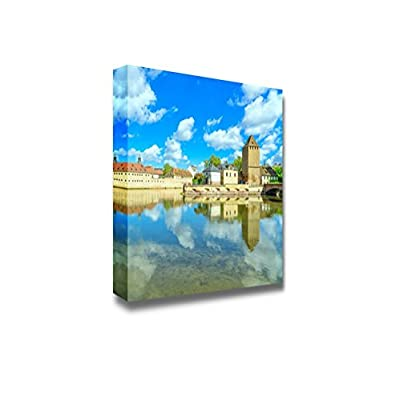 Astonishing Technique, Made With Love, Strasbourg Tower of Medieval Bridge Ponts Couverts and Reflection France Home Deoration Wall Decor