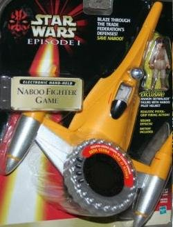 Star Wars Episode I Electronic Hand-Held Naboo Fighter Game
