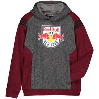 cf61c6e0ea0 Amazon.com  adidas MLS New York Red Bull Pullover Hoodie. Red Gray ...