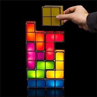 Lampara De Led Armable En Forma De Piezas De Tetris