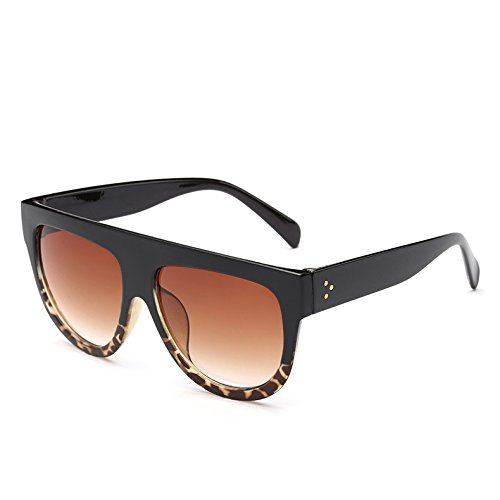 Leopardblack362 Gradiente Mujer 5 BlackLeopard Frame Sol Hombre Bastidor Vintage Viajes 9 Uv Sol Gafas Tonos Gafas TIANLIANG04 De Enormes G Unas De wYqfPHax4