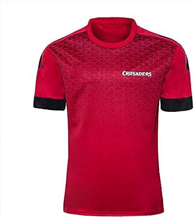DDZY Jersey de Rugby, 2020 Nueva Zelanda Highlander, hogar/lejos, Deportes de Verano Transpirable Camisa Casual Camiseta de fútbol Camisa de Polo,Rojo,S: Amazon.es: Hogar