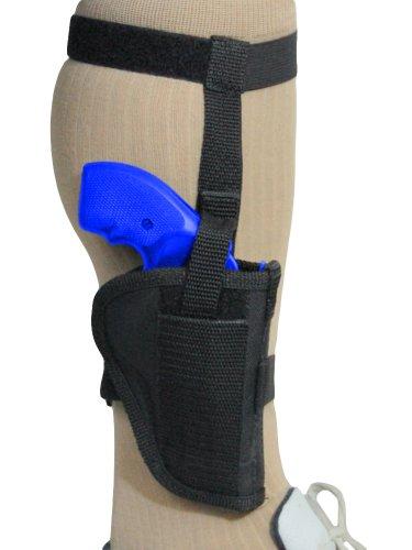 Barsony Black Nylon Ankle Holster for ROSSI MODEL 351 .38; 352 right (Inch 2 Rossi Holster 357 Revolver)
