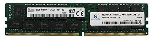 - Adamanta 32GB (1x32GB) Server Memory Upgrade Compatible for Dell Poweredge & HP Proliant Servers DDR4 2133MHz PC4-17000 ECC Registered Chip 2Rx4 CL15 1.2v DRAM RAM
