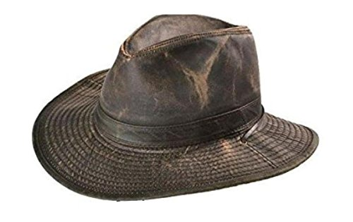 (DPC Outdoors Men's Weathered Outback Hat, Brown, X-Large)