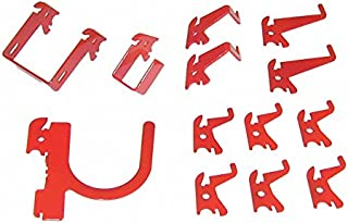 product image for Slotted Tool Board Hook Kit, 13 Piece, Red