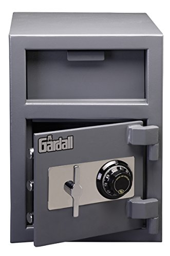 (Gardall LCF2014-G-C w Front Loading Commercial Light Duty Depository Safe with Mechanical Combination Lock, Grey)
