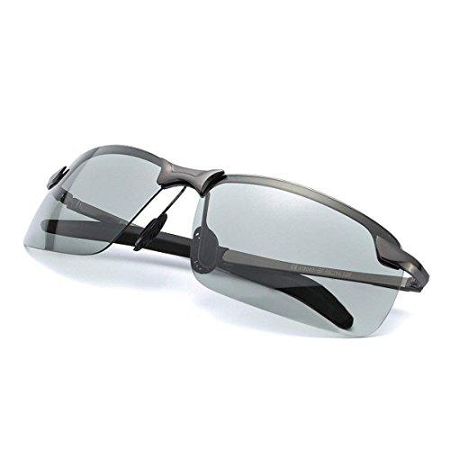 Bolara de Gafas rectangular Discolor sol para Gun hombre AArxqwFS