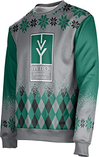 T-shirt Over Ivy - ProSphere Ivy Tech Community College of Indiana Ugly Holiday Men's Sweater - Jolly FFAC