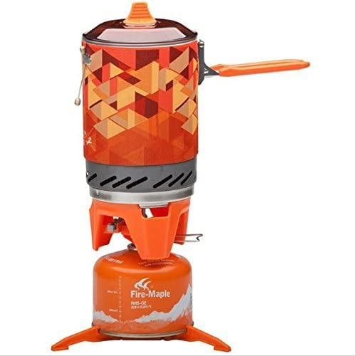 Fire Maple Camping Stove FMS-X2 Compact One Piece Heat Exchanger Pot Exchanger Pot Camping Equipment Cooking System 416lvUfNj2L