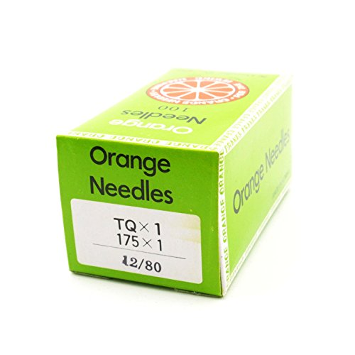 100 Pk. Orange Brand TQX1, 175X1 Industrial Sewing Machine Needles Size 80/12 by Orange