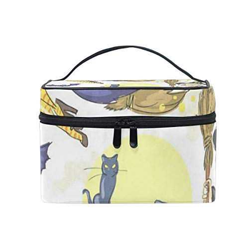 Makeup Bag Halloween Witches Cosmetic Bag Portable Large Toiletry Bag for Women/Girls Travel