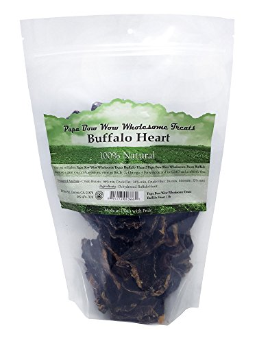Papa Bow Wow Buffalo Heart Dog Treat, 1 Lb