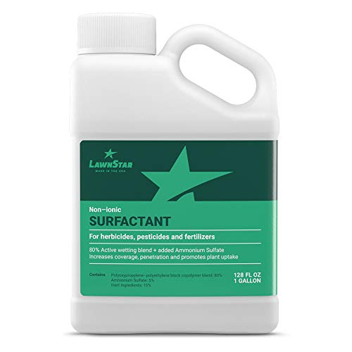 LawnStar Non-Ionic Surfactant + 5% AMS for Herbicides, Pre-Emergents & Fertilizers (1 Gallon) - Increase Coverage, Penetration, Prevent Rolloff and Maximize Product Performance - American Made