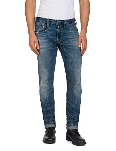 Washed Men's Medium Blue Anbass Fit Slim Jeans Replay ATwqOaXX