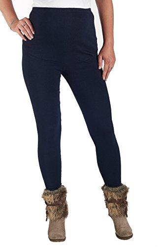Jandaz® - Leggings de invierno para premamá, algodón, varios colores Winter Thick Navy Blue