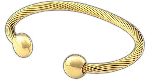 Q Ray Deluxe Goldtone Bracelet Q-Ray Q.Ray Qray (8 Inches) by QRAY