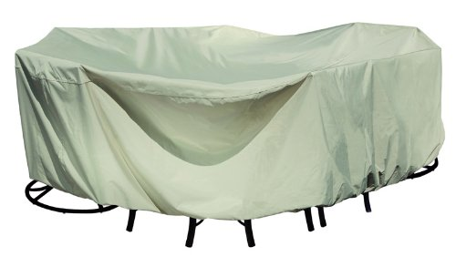 Treasure Garden Fits all Medium Oval/Rectangle Table & Chairs w/8 ties - Protective Furniture Covers