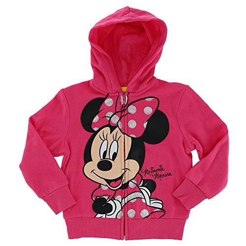 Jerry Leigh Disney Toddler Happy Minnie Zip Up Hoodie, 3T, Pink