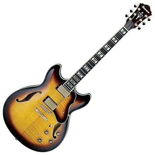 Ibanez AS153AYS Artstar Semi-Hollow Electric Guitar, Antique Yellow Sunburst Finish