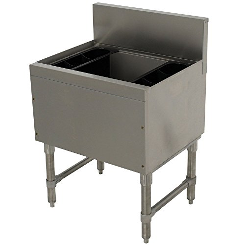 Advance Tabco PRI-19-30-10 Prestige Series Stainless Steel Underbar Ice Bin with 10-Circuit Cold Plate - 20