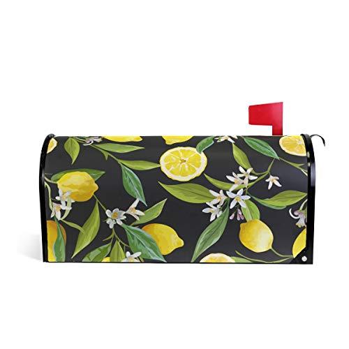 MOFEIYUE Fruit Lemon Tree Leaves Magnetic Mailbox Cover for Home Garden Yard Deco Makeover Mail - Leaves Cover Magnetic Mailbox