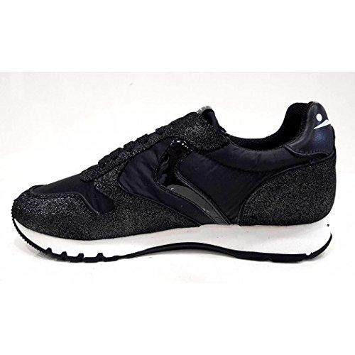 Sneaker Donna Julia Creck Laminato Voile Blanche Leather Nero - 35, Nero