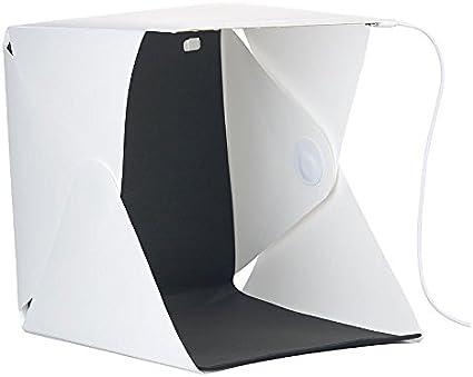 Somikon Fotozelt Studio Lichtzelt Mit 20 Leds 400 Lumen 22 X 23 X 24 Cm Usb Mini Fotostudio Beleuchtung