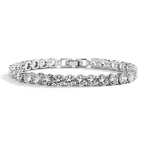 (Mariell Glamorous Platinum Silver 6 1/2