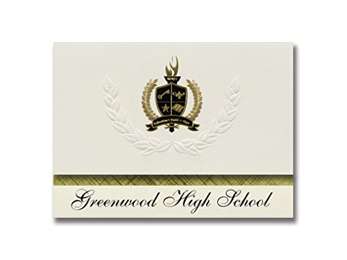 Signature Announcements Greenwood High School (Bowling Green, KY) Graduation Announcements, Presidential style, Elite package of 25 with Gold & Black Metallic Foil ()