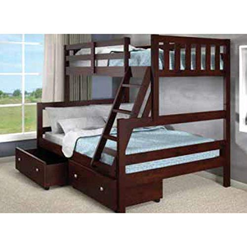 Donco Kids 1566-TFCP_505-CP Austin Bunk Bed Twin/Full Dark Cappuccino ()