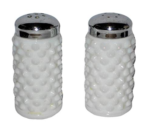 Vintage Fenton Hobnail Milk Glass 3 Inch Salt & Pepper Shaker - Hobnail Salt