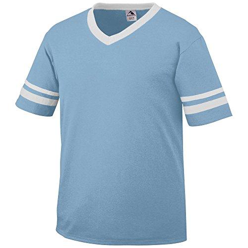 Augusta Sportswear Augusta Sleeve Stripe Jersey, Light Blue/White, Large (Light Blue Jersey)