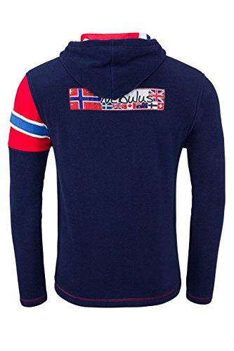 Navy In Kinley Lifestyle Nebulus Blu giacca Giacca Pile Con Felpa Cappuccio t104 EBTxPwqx